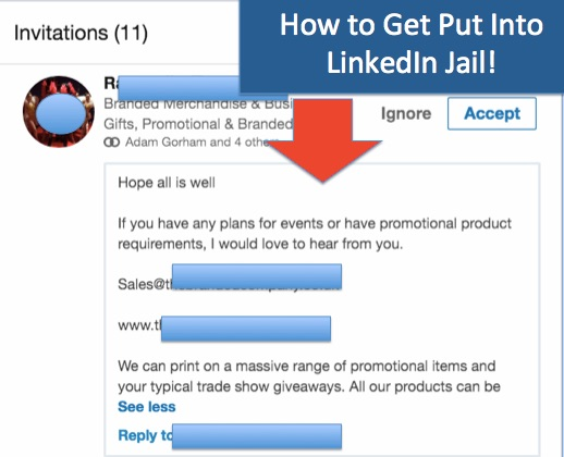How NOT To Get Put Into LinkedIn 'Jail'!